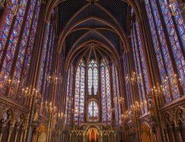 La Sainte-Chapelle de Paris.