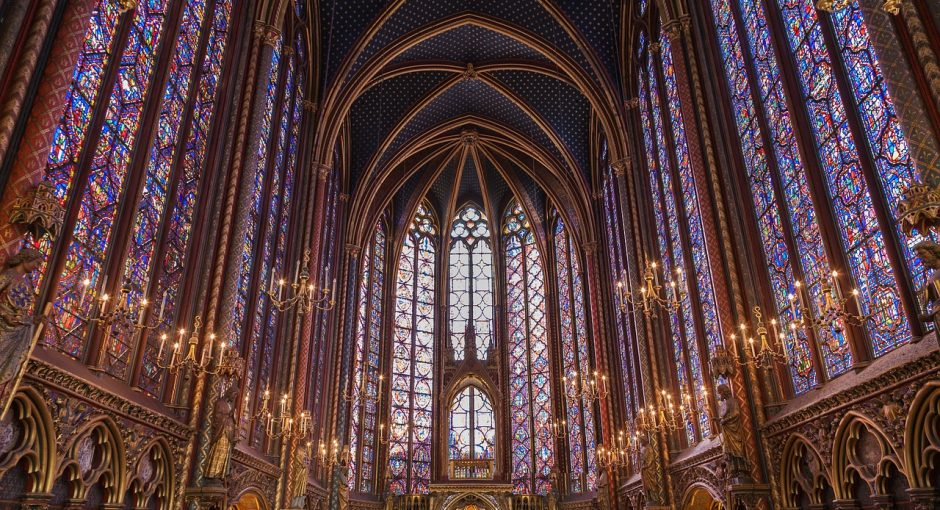 La Sainte-Chapelle de Paris.